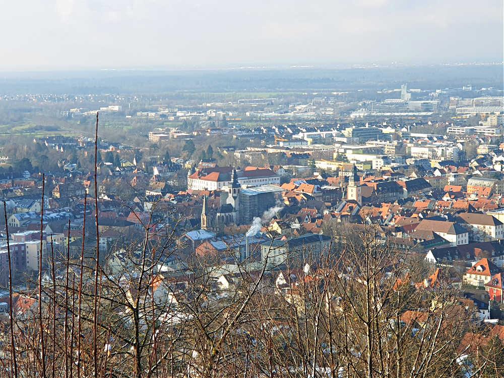 Aussicht vom Bismarckturm Ettlingen