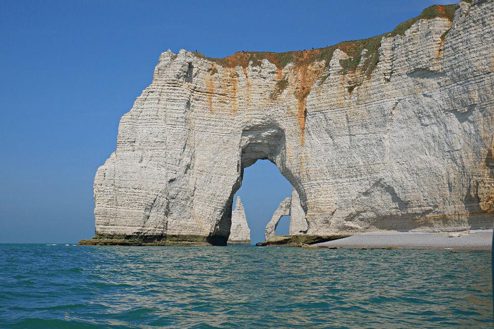 Bootstour zu den Kreidefelsen von Etretat in der Normandie