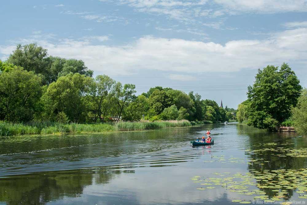 Mit dem Kanu auf dem Finowkanal | Bild: GoOnTravel