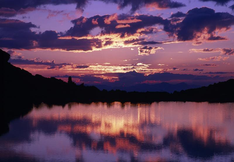 Bergsee im Sonnenuntergang   Bild: TVB Stubai Tirol/Heinz Zak
