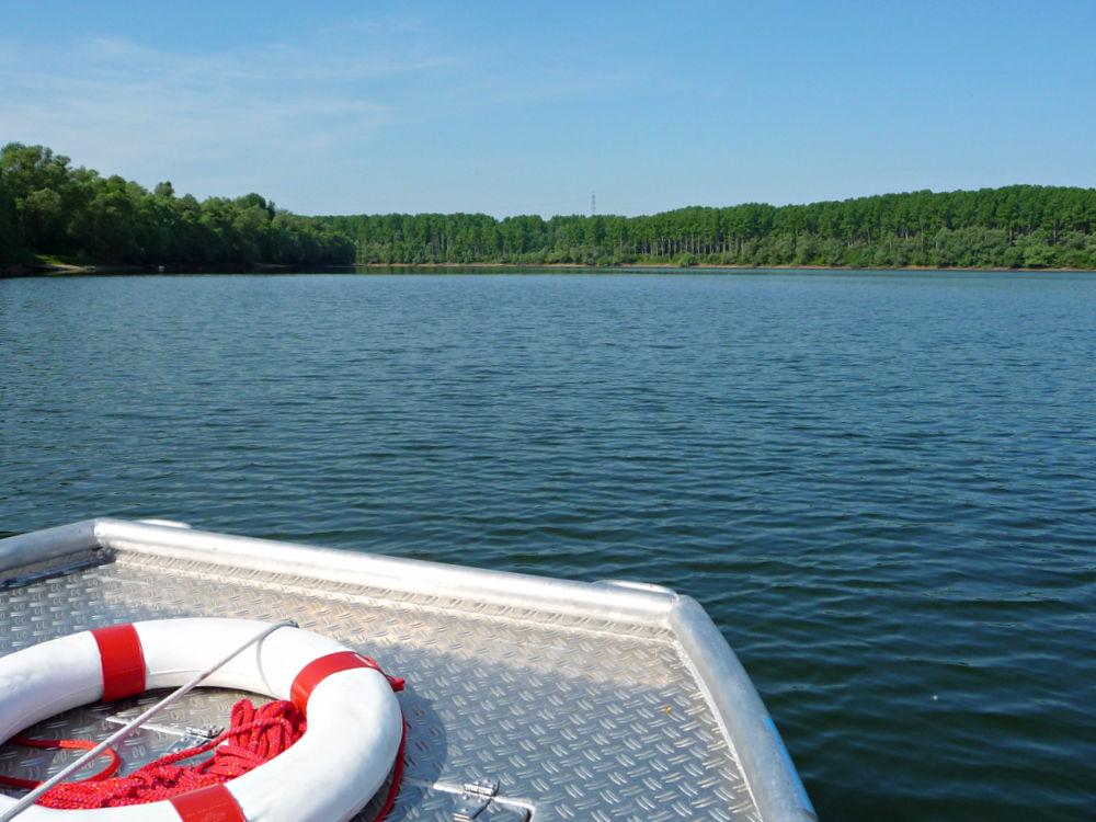 Bootsfahrt mit dem Nachen in den Rheinauen bei Germersheim