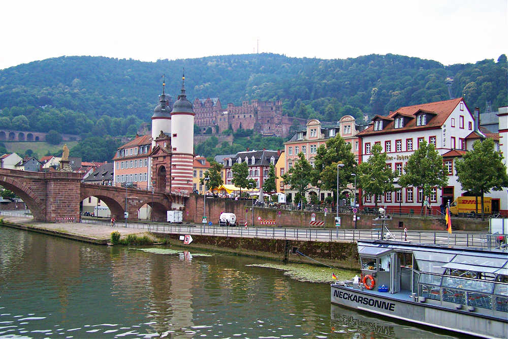 Malerisches Heidelberg am Neckar