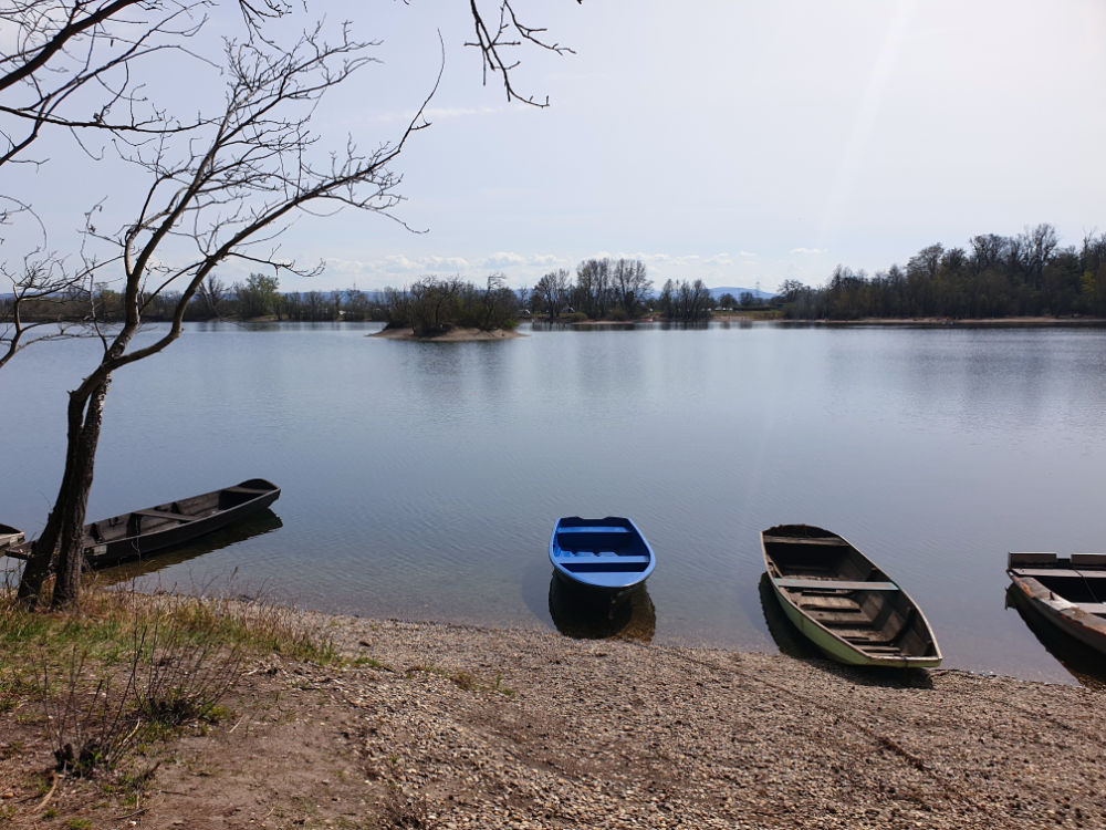 Boote des Anglervereins am Fermasee